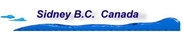 Sidney BC, Canada home page, banner.
